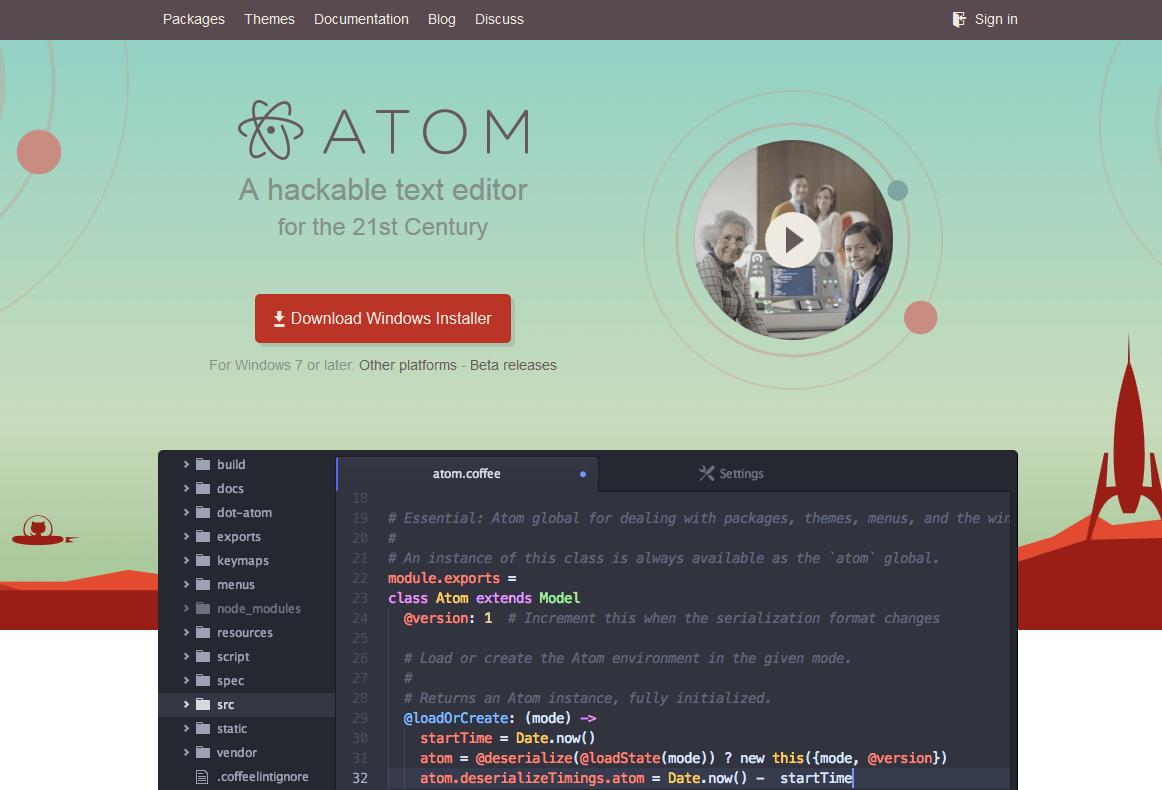 Atom エディタ