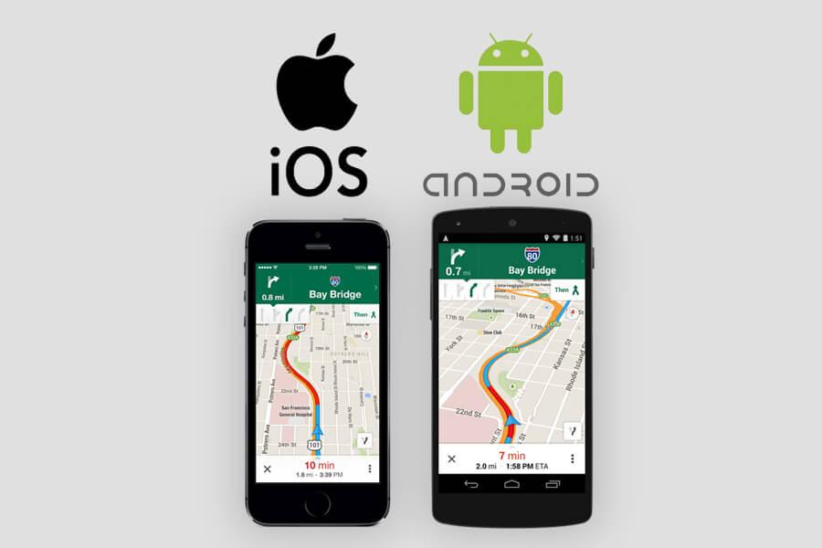 OSを判定してiOS標準のマップアプリとGoogleマップアプリのどちらかを起動