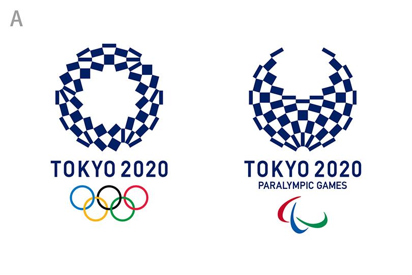 東京オリンピックロゴ A. 組市松紋(くみいちまつもん)