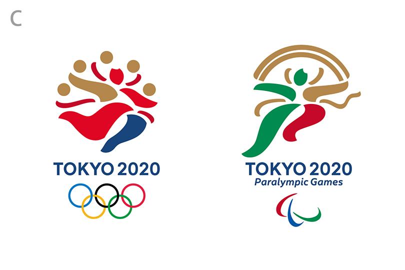 東京オリンピックロゴ C. 超える人(こえるひと)