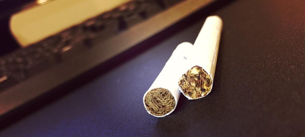 吸う前のたばことヒートスティック