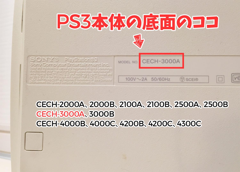 PS3下取り該当型名