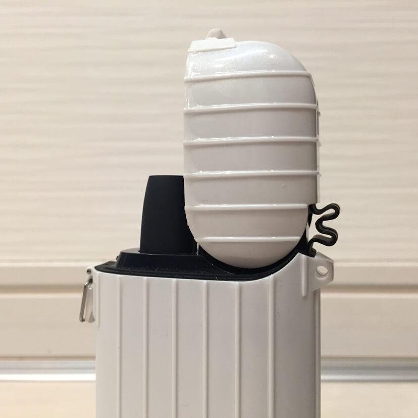 アイコス専用ケースiSUIT CASE(アイスーツケース)本体の蓋にケースを装着