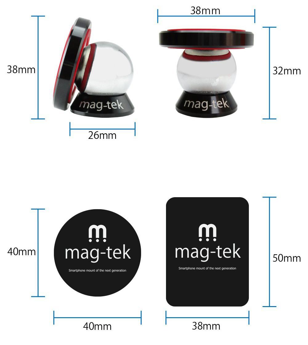 マグテック(mag-tek)の取り付け部分のサイズ